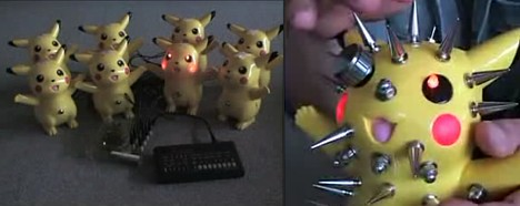 Circuit-bent Pikachu instruments -- 