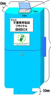 Cellphone recycling bin --