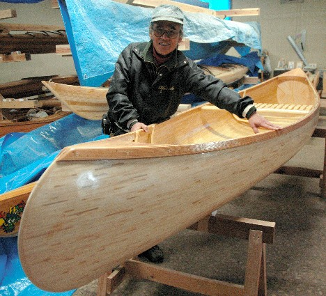 Canoe made of chopsticks --