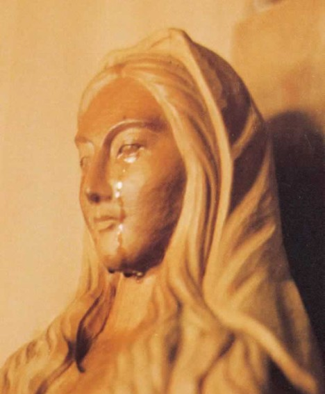 Japan's crying Virgin Mary statue --