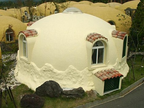Styrofoam Dome Homes Pink Tentacle