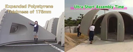 Styrofoam dome house --