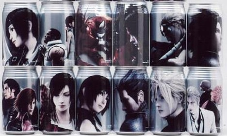Final Fantasy VII Potion character cans --