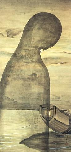 Ghost scroll at Zenshoan temple --