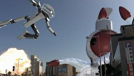 Hakodate tourism video robot vs squid