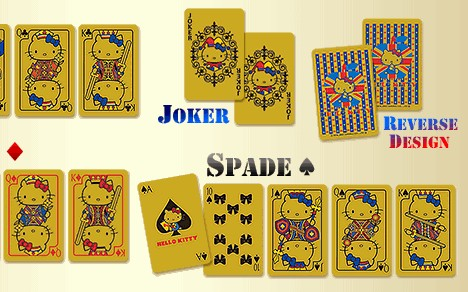 Solid gold Hello Kitty playing cards --