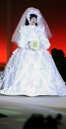 HRP-4C robot in wedding dress --