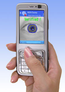 Iris recognition techology for cellphones --