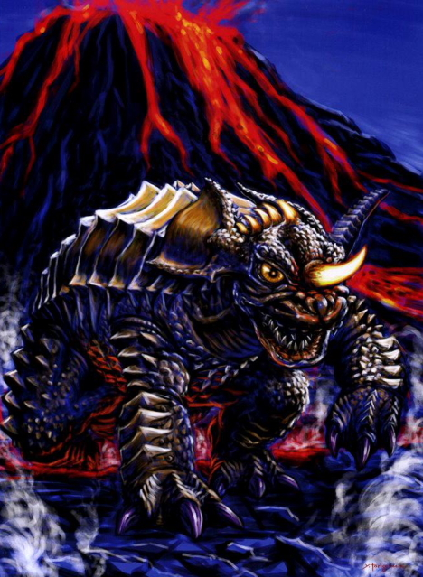 Baragon - Illustration by Yasushi Torisawa --