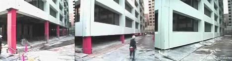Stop-motion video of building demolition --
