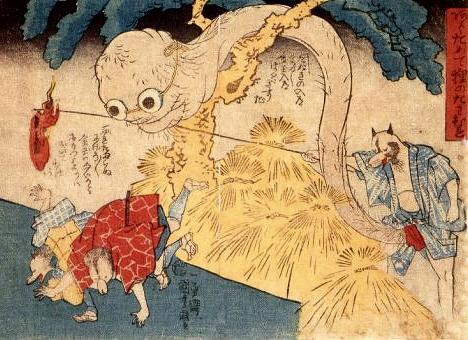 Kuniyoshi tanuki print --