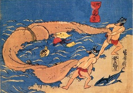 Tanuki print by Utagawa Kuniyoshi --