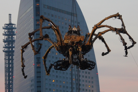La Princesse giant spider robot in Yokohama --