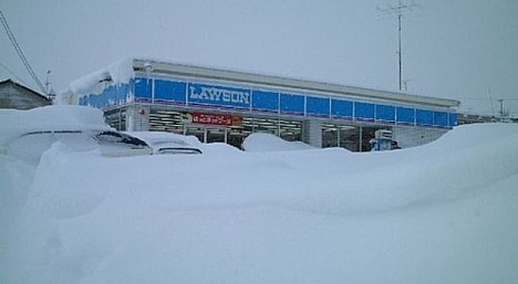 Lawson buried in snow ---