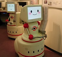 Mospeng-kun, tissue-dispensing robot ---