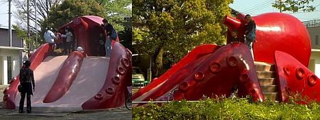Giant octopus playground equipment --