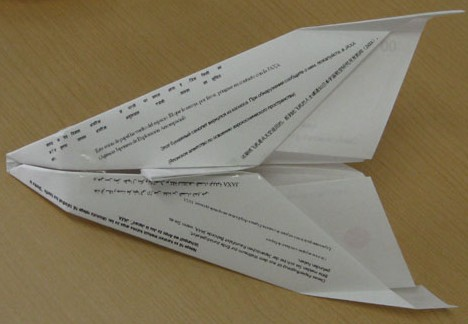 Oriplane, origami space shuttle --