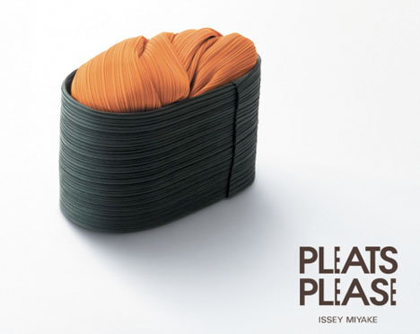 Pleats Please sushi ad by Taku Satoh --
