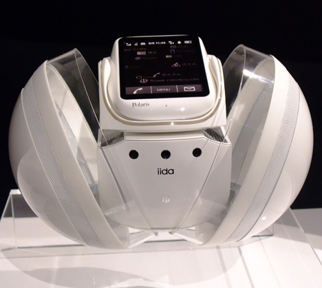Polaris mobile phone robot by KDDI iida --