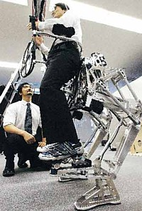 Power Pedal robot exoskeleton --