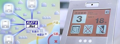 NTT's earthquake alarm system --