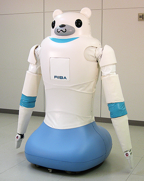 RIBA, Robot for Interactive Body Assistance -- 