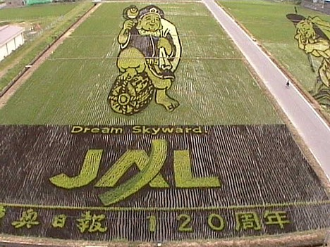 Inakadate rice paddy art, 2008 --