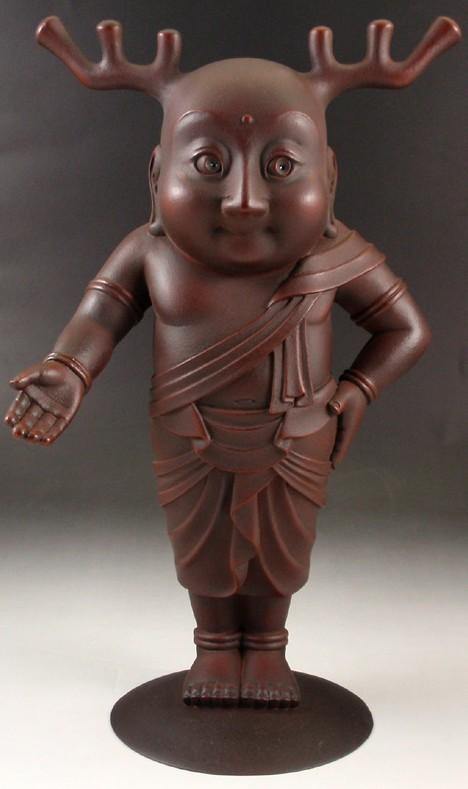 Bronze Sento-kun statue by Yabuuchi Satoshi --
