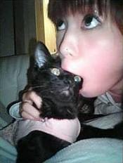 Shoko Nakagawa Cat Eating