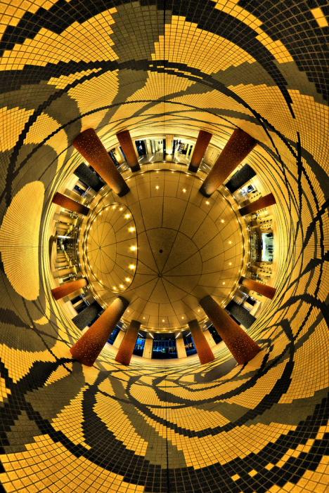 Spherical panorama of Tokyo --