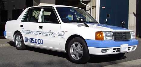 Car powered by superconductor motor --