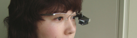 Tele Scouter retinal display -- 