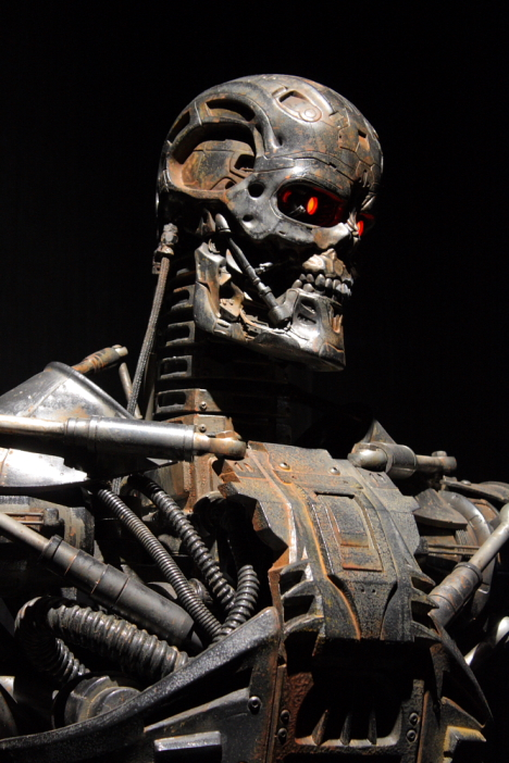 T-600 endoskeleton from Terminator 4, exhibited at Miraikan -- 