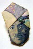 Turban Noguchi: origami made with 1000-yen bill --