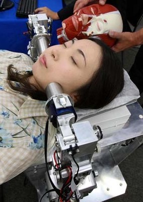 WAO-1 face massage robot --
